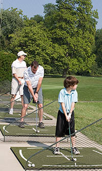 Three Generations at the Driving Range